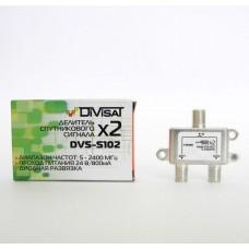 Делитель спутникового сигнала на 2 ресивера DVS-S102