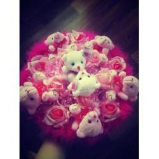 """Букет из мягких игрушек """"Розовая мечта"""""""