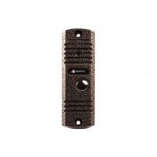 Панель видеодомофона Optimus DS-420 (сереб./медь/черный)
